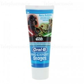 ORAL-B Oral b pro expert stages dentifrice enfant protection caries star wars 2-6ans 75ml