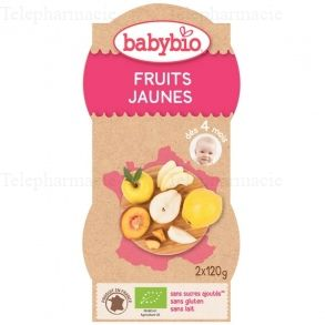 Fruits jaunes bio - 2 bols de 120 g