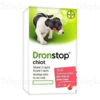 BAYER Dronstop Chiot vermifuge flacon 50ml