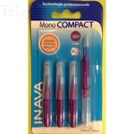 Recharges brossettes interdentaires mono compact larges 1,5mm ISO4 pack de 4